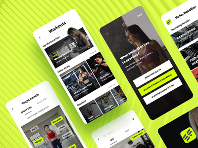 Fitness app sport health muscle mobile app design mobile design mobile app ui ux fitness app fitness gym app