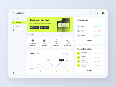 Banking dashboard webdesign ui ux bank dashboard ui dashboard