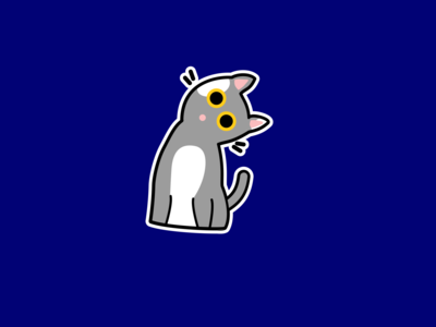 Cat sticker- Weekly warm-up