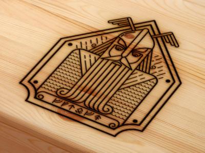 Viking illustration warrior man norway icon logo vector illustration viking