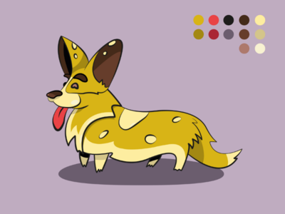 Corgi illustration art dog animal flat corgi illustration