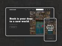 Bookstore website concept shop store book screen dark design webdesign concept ui website web