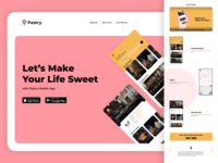 Pastry Mobile App concept search confectionery pastry food app food mobile app mobile ui mobile app uidesign ui web