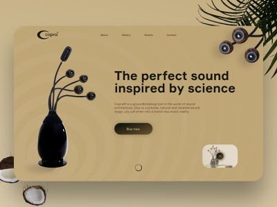 Copra's website redesign minimal clear landing music webdesign website uiux ux ui