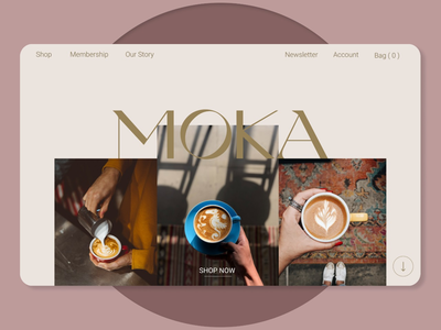 A website design for a cafe uxdesign uidesign aesthetic color typography font typeface cafe website websitedesign webdesign uiux ui