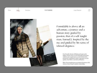 Fashion Brand E-commerce brand ecommerce design ecommerce website concept website design web design webdesign websites editorial design editorial website minimal ux app web ui icon typography identity design