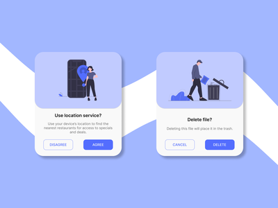 Daily UI Challenge. Day 016/100 location confirmation delete restaurant popup design uidesign figma daily ui dailyui daily 100 challenge undraw pop up overlay popups popup