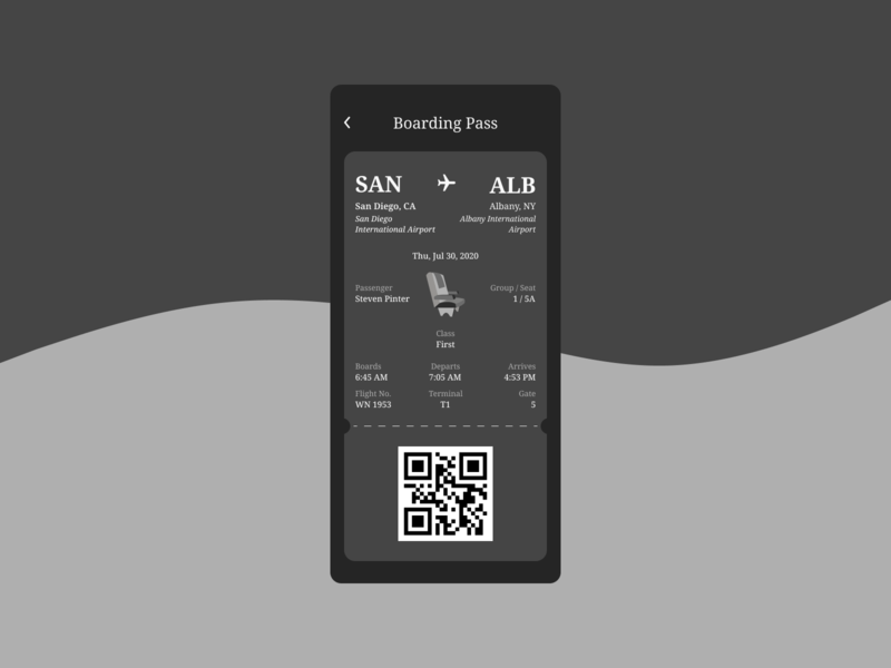 Daily UI Challenge. Day 024/100 user interface design user interface ui design daily ui figma dailyui daily 100 challenge airport travel flight app airplane airlines boarding boarding pass