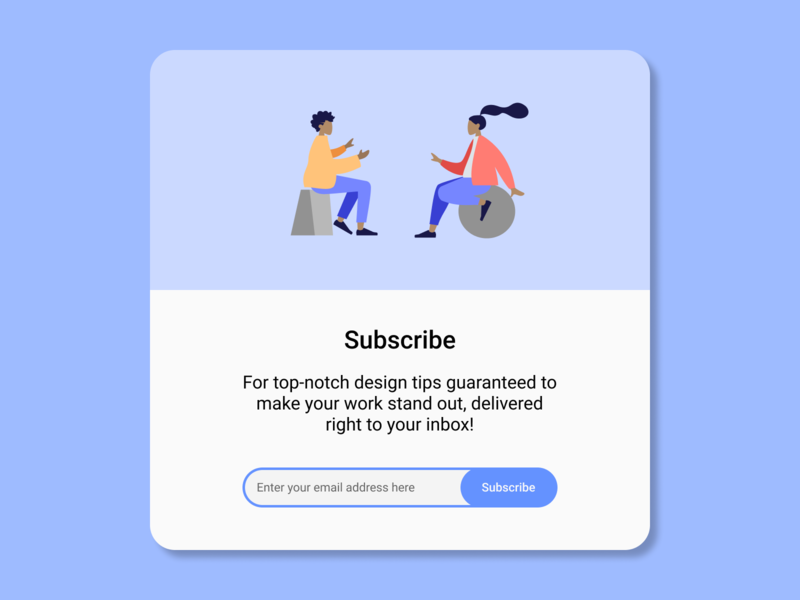 Daily UI Challenge. Day 026/100 userinterface ui ui design user interface design user interface daily ui figma daily 100 challenge design newsletter design tips subscribe form subscribe