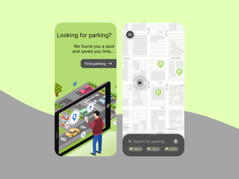 Daily UI Challenge. Day 029/100 ui user interface daily ui figma daily 100 challenge target search location tracker location maps mapping map car parking parking lot parking app parking