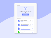 Daily UI Challenge. Day 031/100 ui design daily ui figma daily 100 challenge uploading file manager progress bar file management browse drag and drop uploader upload file upload file upload files file
