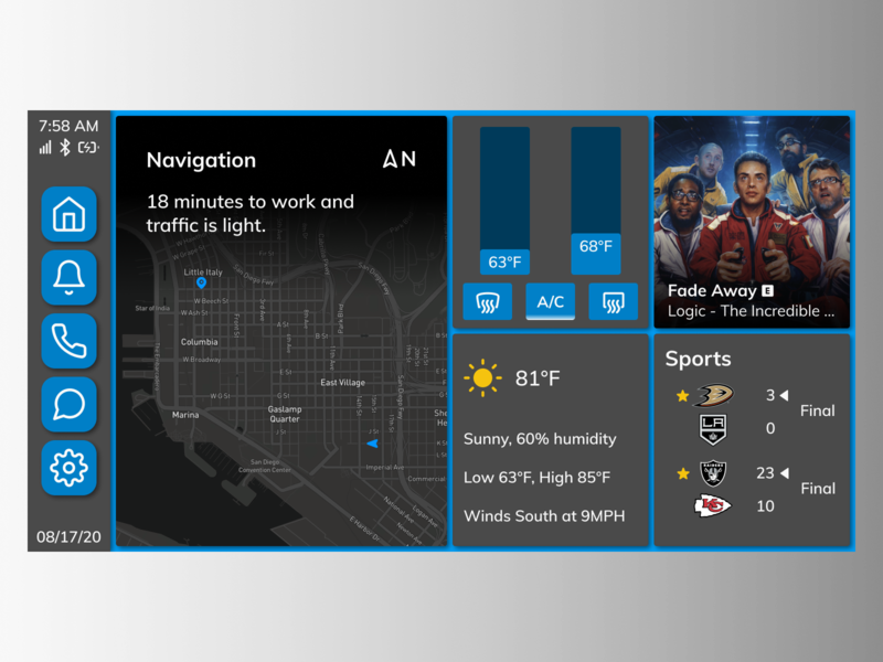 Daily UI Challenge. Day 034/100 daily ui figma daily 100 challenge map navigation air conditioning weather sports music car app dashboard ui dashboard car dashboard car interface car automobile automotive