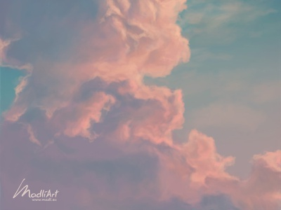 Sky colour study I sunset sunrise digitalart flying dream abstract painting artwork art illustration weather skyline landscape nature sky colours pastel soft clouds cloud