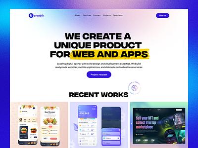 Creabik website branding ui awwwards portfolio website portfolio digital agency creabik design creabik