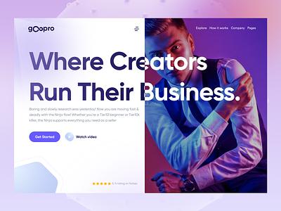 gOopro - business template agency design project ui saas design creabik design creabik