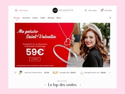 mes bijoux - website redesign