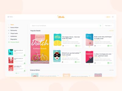 UBouks - Book Store Website Design
