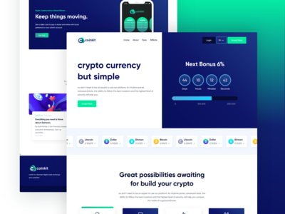 coinkit   crypto currency landing page