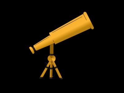 Gold Telescope Logo