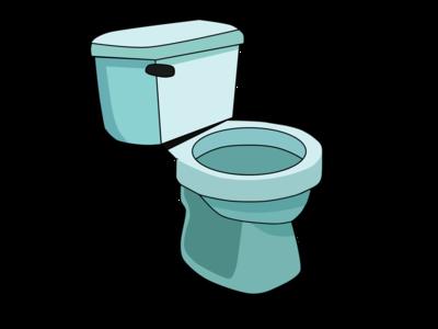 Teal Toilet digital Graphic