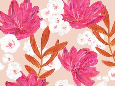 Summer flower mix. pink, orange and white.