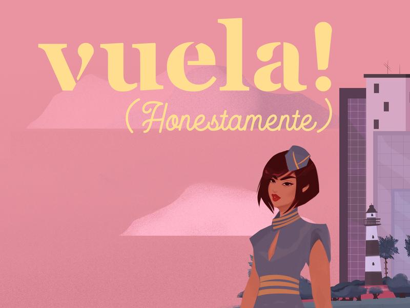 Vuela! Honestamente Cover procreate peruvian travel agency traveling flying magazine print branding visual identity design illustration