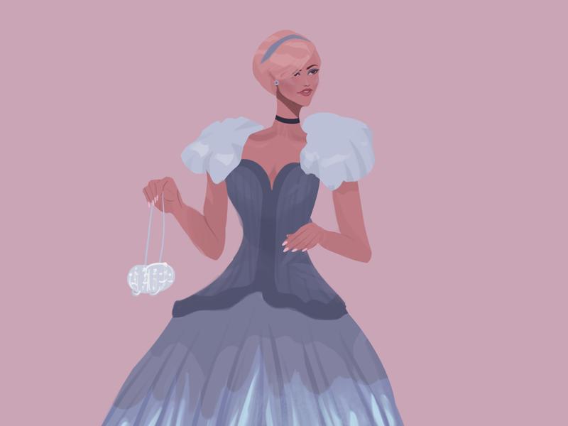 Zendaya at the MET Gala design fashion cinderella zendaya met gala celebrity procreate illustration