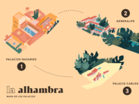 Map of La Alhambra