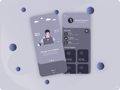 Task Manager - Application Shot - Ux/Ui Design 🔅 branding web vector shot free application app design ux ui