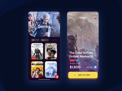 simple app ios game app shop minimal ui