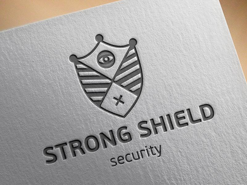 Logo Strong Shield Security logo security