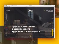 design website for architecture studio XO Design