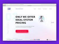 Web header page digital agency