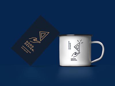 logotipe Gooooodesign card business cup gesign good gold logo workshop heritage architect