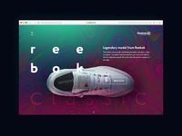 reebok promo concept page