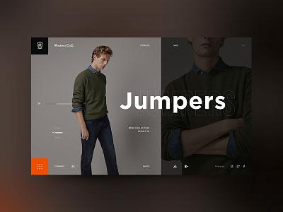 simple page ux ui ecommerce massimo dutti web online branding shop minimal website design