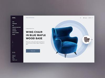 INTO   interior & furniture ux online shop web ui minimal website design