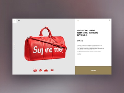 product page product page page store ux shop design minimal web website ui online bag supreme louis vuitton louisvuitton