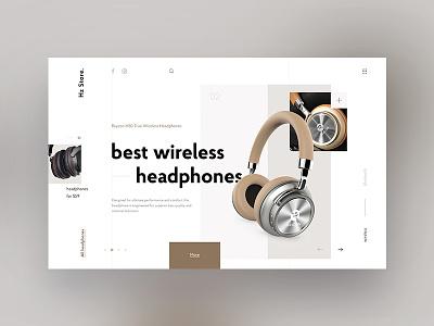 Hz Store. ui website shop minimal web