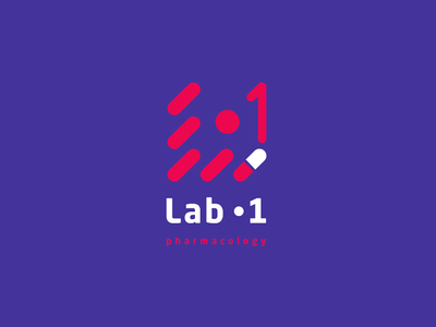 Lab-1  Pharmacy company logo red pharmacy lab ux branding vector illustration minimal logo