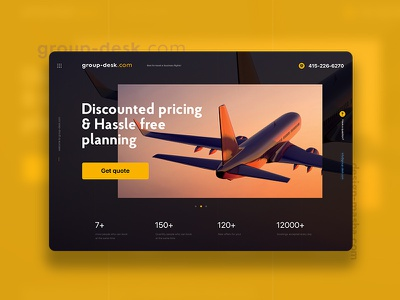 Group Desk avia plane groupdesk web ui website minimal