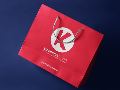 Kicks Sides, logo & identity sneakers identity branding paper bag packaging pack typography vector ux online shop branding logo design minimal