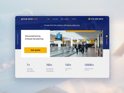 Group Desk 3 service groupdesk airline design web online ui website minimal