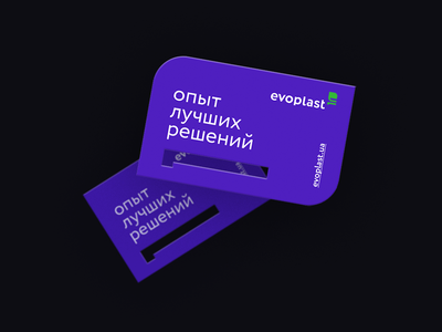 evoplast business card card typography ux ui minimal art branding business card logo design