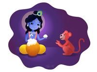 Yashoda-Nandana and a Monkey