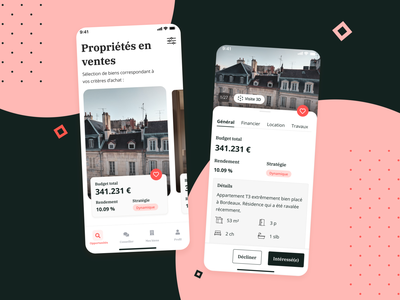 Real estate application investor investment immobilier app appartment logement realestate real estate application