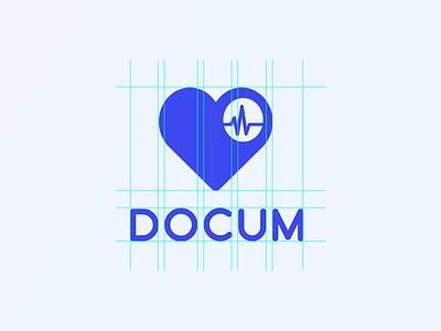 Docum - logo medical app medical design medical logo design branding logo