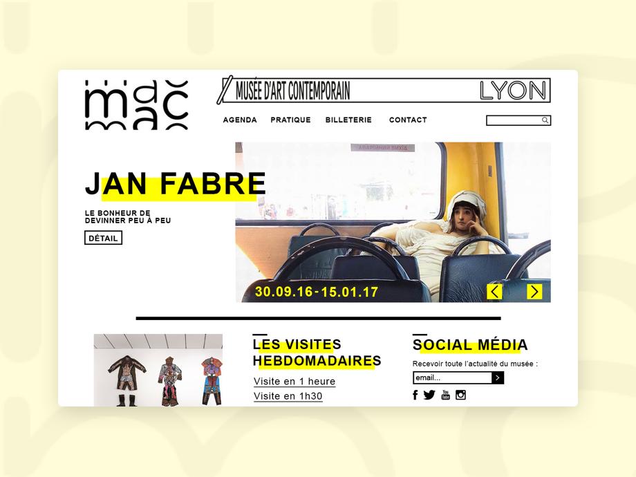 MAC Lyon - Website art museum website musée museum website museum website contemporary at mac