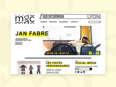 MAC Lyon - Website lucile foraison art museum website musée museum website museum website contemporary at mac