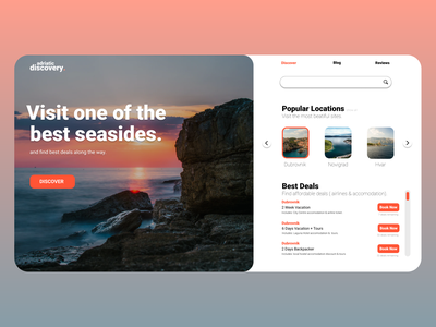 Landing Page: Travel Booking Site ux ui web design figma